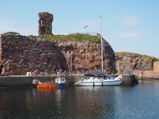 A Dutch Yacht in Victoria Harbour beside Dunbar Castle