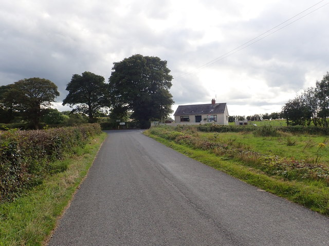 The Cloghoge Road approaching the Kiltybane Road junction