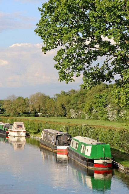 Private moorings near Huddlesford in Staffordshire