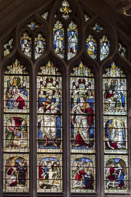 North transept window, St Mary Redcliffe church, Bristol