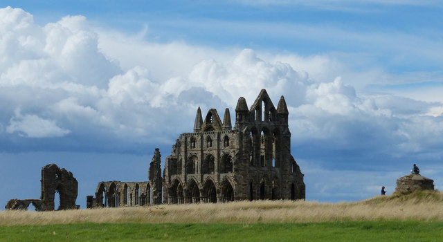 Whitby Abbey viewed from the car park