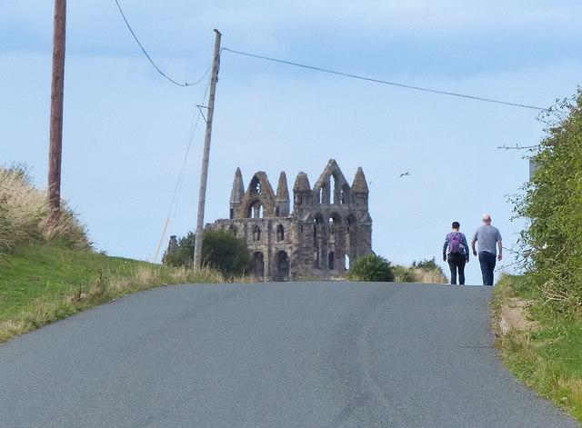 Hawkser Lane towards Whitby Abbey