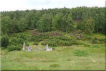 NH8622 : Ruin near Sluggan Bridge by Anne Burgess