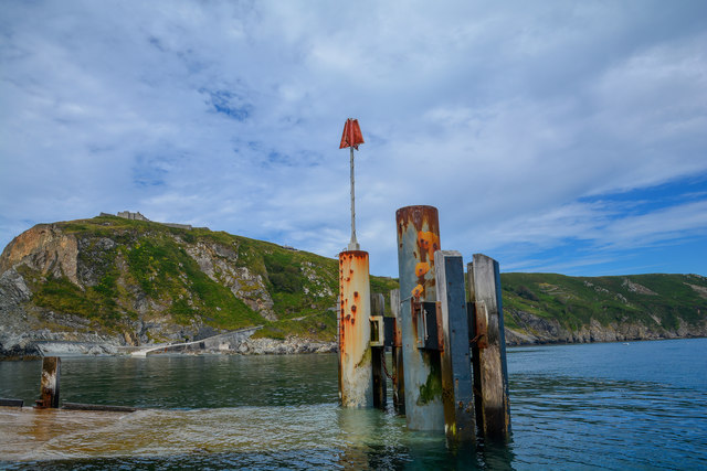 Lundy Island : Landing Dock