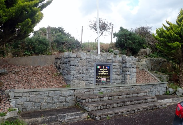 The Burns and Moley Memorial in Donaldsons Road, Creggan