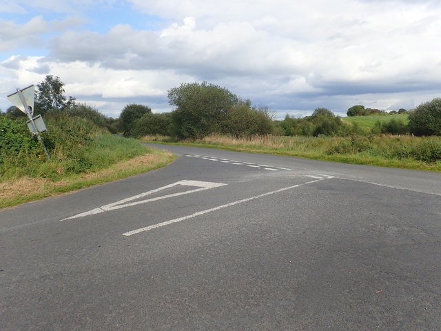 Lake Road at its junction with Cloghoge Road, Creggan