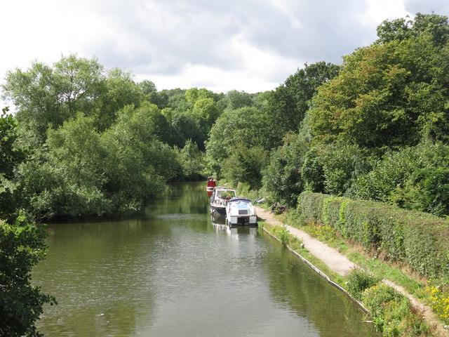 The Grand Union Canal southwest of Stocker's Lock