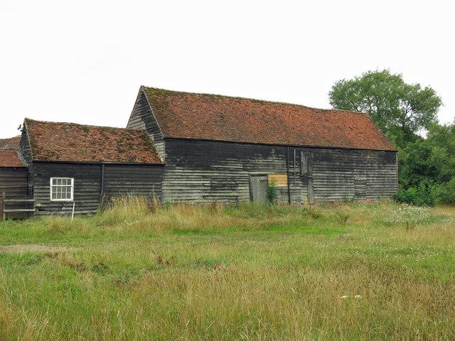 Barn and cart shed at Stocker's Farm
