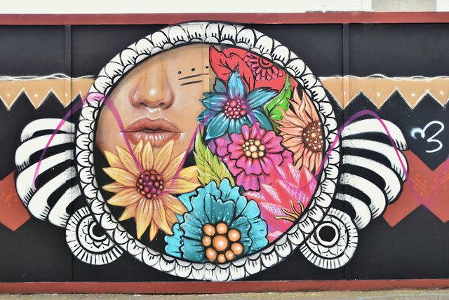 Street art, Kent Street, Belfast - September 2019(1)