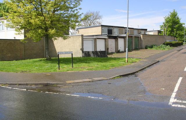Garage block at Nene Crescent / Shetland Way junction