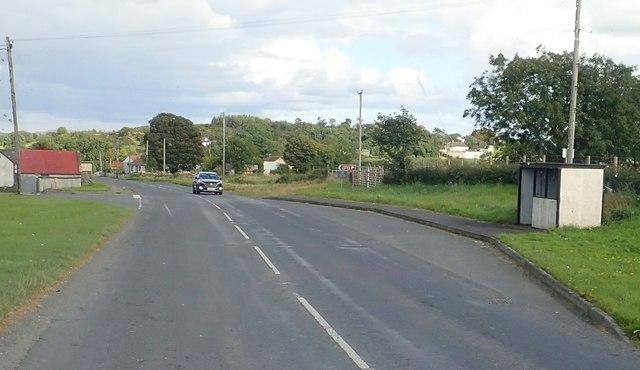 The Cregganduff Road junction on the B30