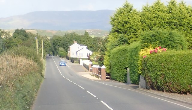 Houses on the B30 (Newry Road) west of Silverbridge