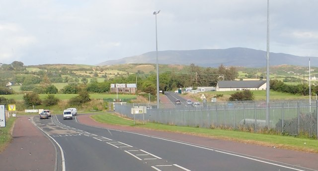 The staggered B30/A29 cross roads at Ford's Cross South-West of Silverbridge