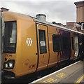 SP0786 : The unappealing logo of West Midlands Railway, Moor Street station, Birmingham by Robin Stott