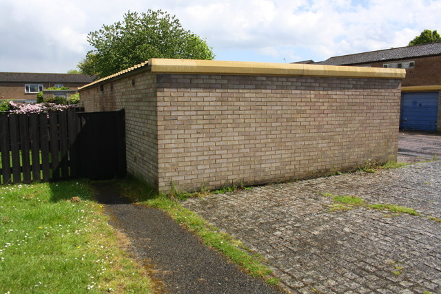 Garage block on east side of Harris Road