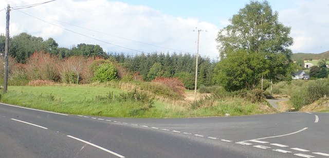 The Lough Road junction on the B30 (Silverbridge Road)