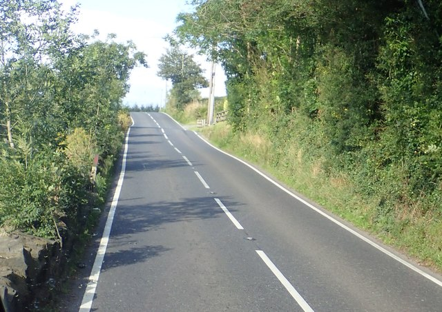 The B30 (Silverbridge Road) ascending towards the Lough Road junction
