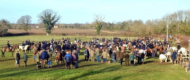 Beaufort Hunt Meet, nr Acton Turville, Gloucestershire 2015