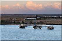 TQ7076 : Jetty near Cliffe Fort by David Dixon