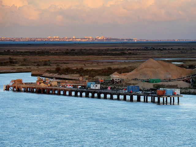 Aggregates Jetty at Cliffe Fort