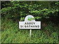 NT7562 : Village  name  sign by Martin Dawes