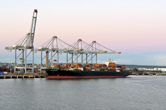 Container Ship at London Gateway