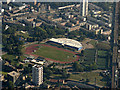 TQ3681 : Mile End Athletics Stadium from the air by Thomas Nugent