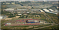TQ4481 : DLR Beckton Depot from the air by Thomas Nugent