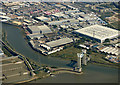 TQ4581 : Barking Creek Barrier from the air by Thomas Nugent