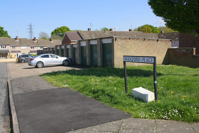 Garage block at Newark Drive / Bridgford Place junction