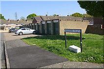 SP8788 : Garage block at Newark Drive / Bridgford Place junction by Phil Richards