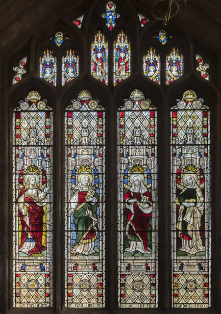 Stained glass window, St Mary Redcliffe church, Bristol
