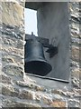 SH3844 : The bell at St Aelhaearn's Church, Llanaelhaearn by Meirion