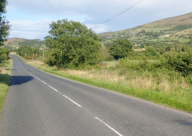 The Western slopes of Slieve Gullion viewed from the Newry Road