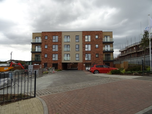 New flats on Station Hill, Bury St Edmunds