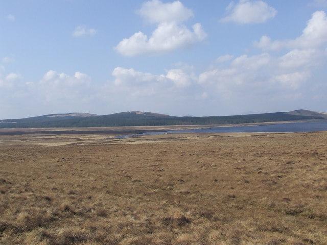 View North West from Badanloch track East of Strath Vagastie