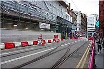 SP0686 : Tramway crossover, Pinfold Street, Birmingham by P L Chadwick