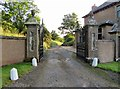 NT7359 : Whitchester  Lodge  and  former  driveway by Martin Dawes