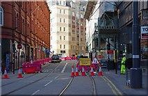 SP0686 : New tram tracks in Pinfold Street, Birmingham by P L Chadwick
