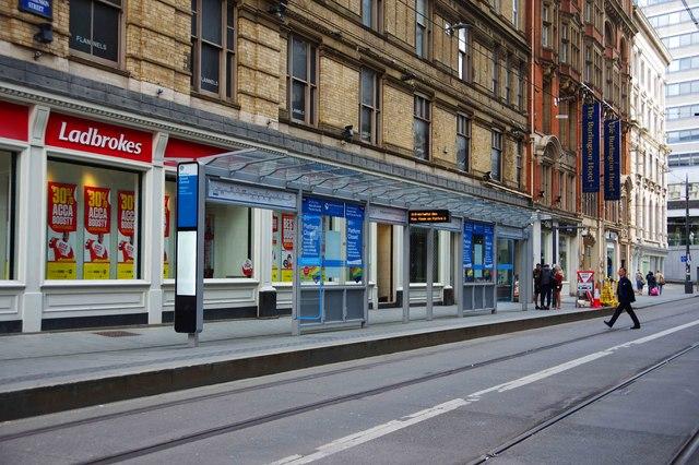 Grand Central tram stop Platform 1, Stephenson Street, Birmingham