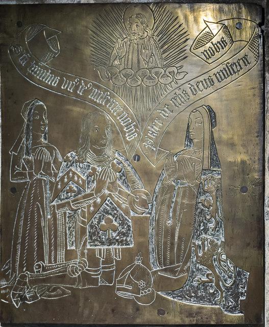Mede brass, St Mary Redcliffe church, Bristol