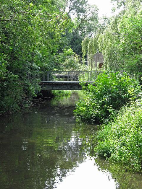 The River Colne downstream of Drayton Ford Bridge