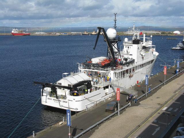 'DSSV Pressure Drop' in Leith Western Harbour