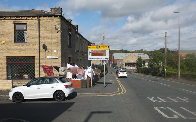 Junction of Leeds Road (A62) and Wharton Street, Liversedge by habiloid