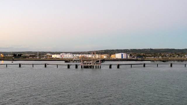 Landing Stages, Oil Storage Depot at Canvey Island