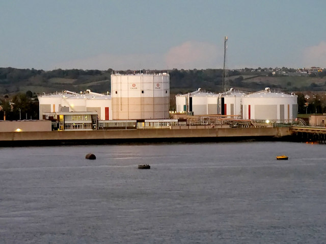 Calor Gas Storage Tanks at Canvey Island
