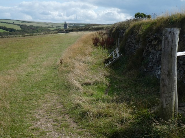 Path to Morwenstow from Vicarage Cliff