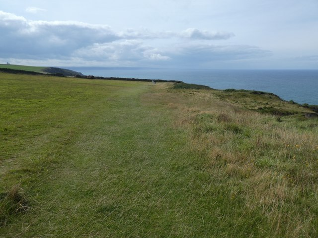 South West Coast Path on Vicarage Cliff