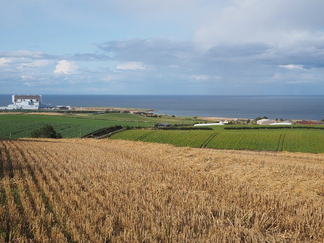 A view from fields at Birnieknowes towards Lawfield