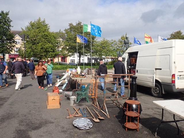Fortnightly market at O'Fiaich Square, Crossmaglen